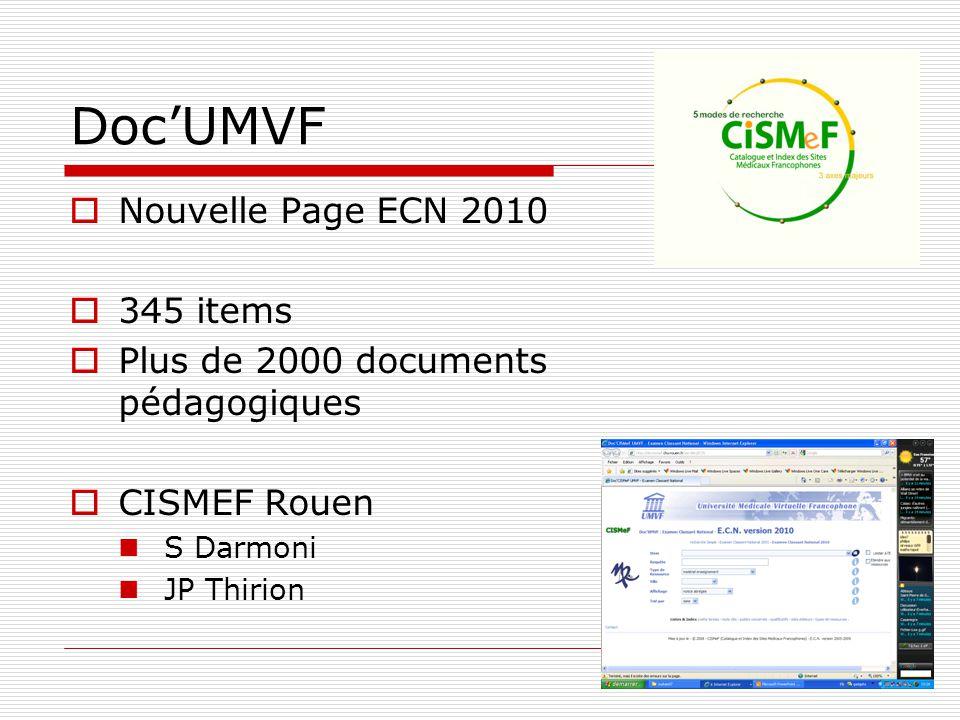 Doc'UMVF Nouvelle Page ECN 2010 345 items
