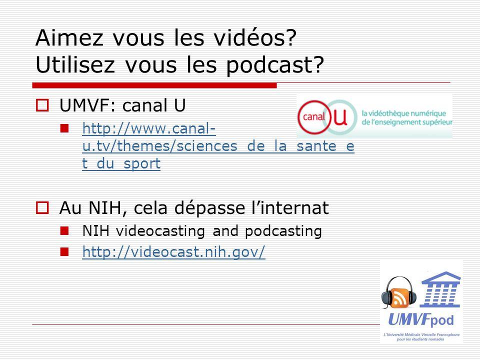 Aimez vous les vidéos Utilisez vous les podcast