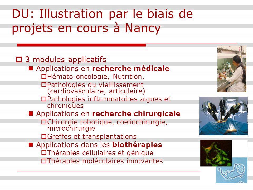 DU: Illustration par le biais de projets en cours à Nancy