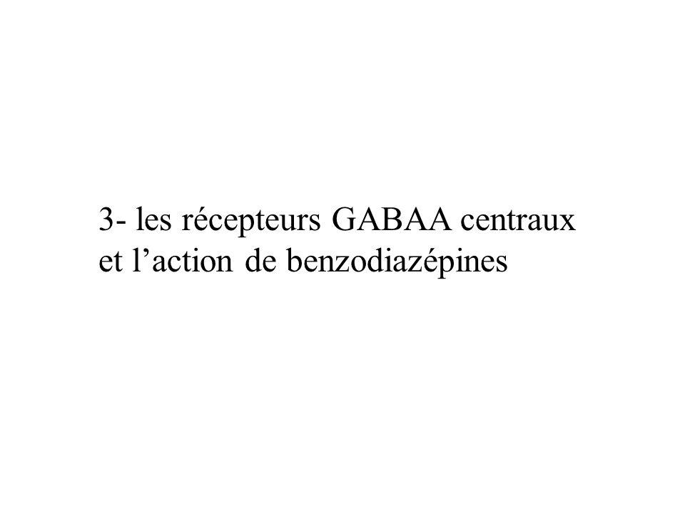 3- les récepteurs GABAA centraux