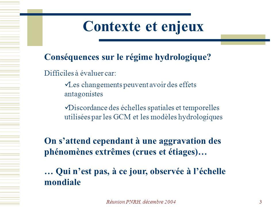 Contexte et enjeux Conséquences sur le régime hydrologique