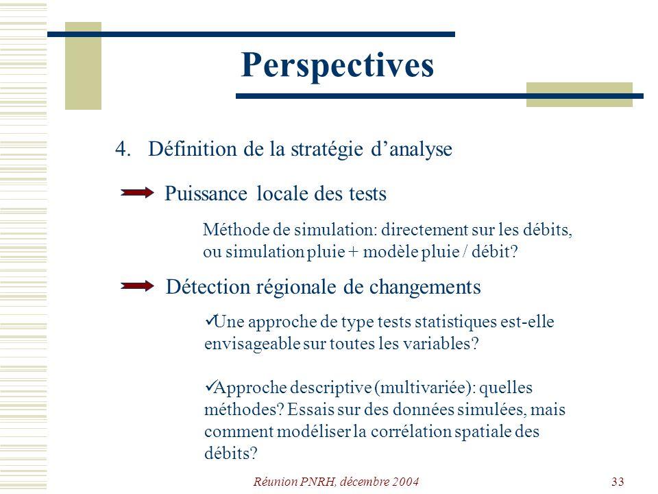 Perspectives 4. Définition de la stratégie d'analyse