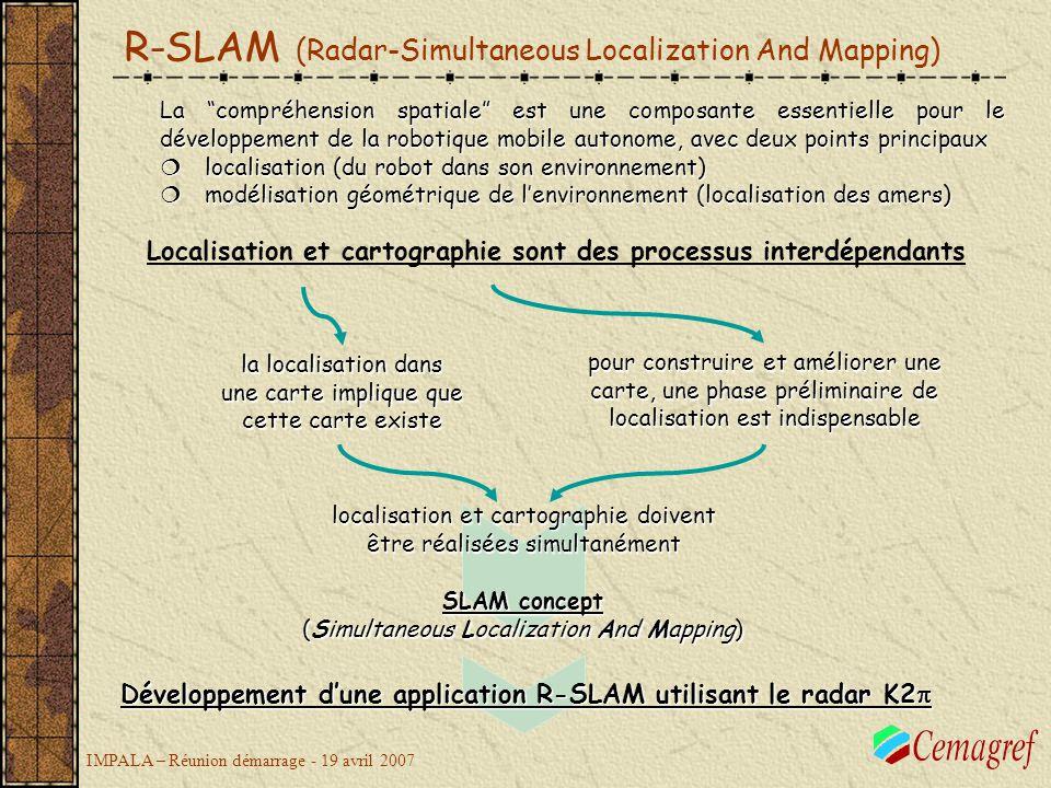 Développement d'une application R-SLAM utilisant le radar K2p