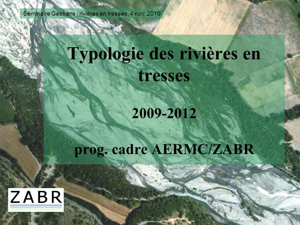 Typologie des rivières en tresses 2009-2012 prog. cadre AERMC/ZABR