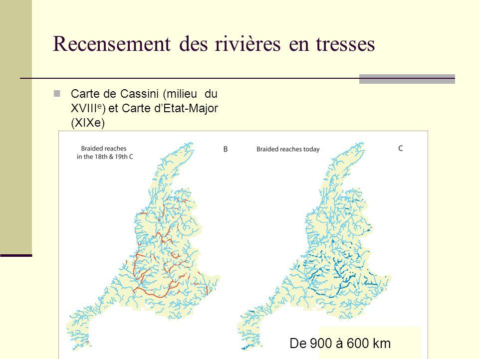 Recensement des rivières en tresses