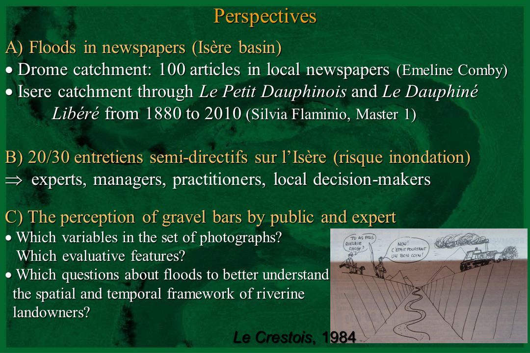 Perspectives A) Floods in newspapers (Isère basin)