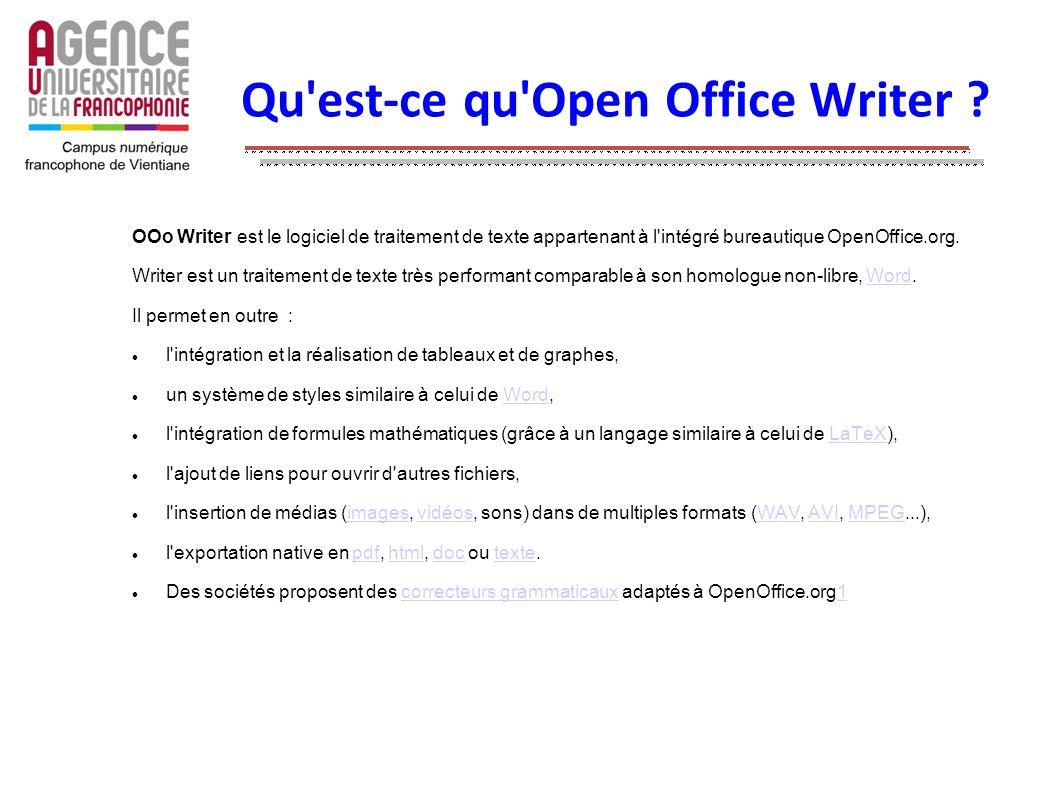 Qu est-ce qu Open Office Writer