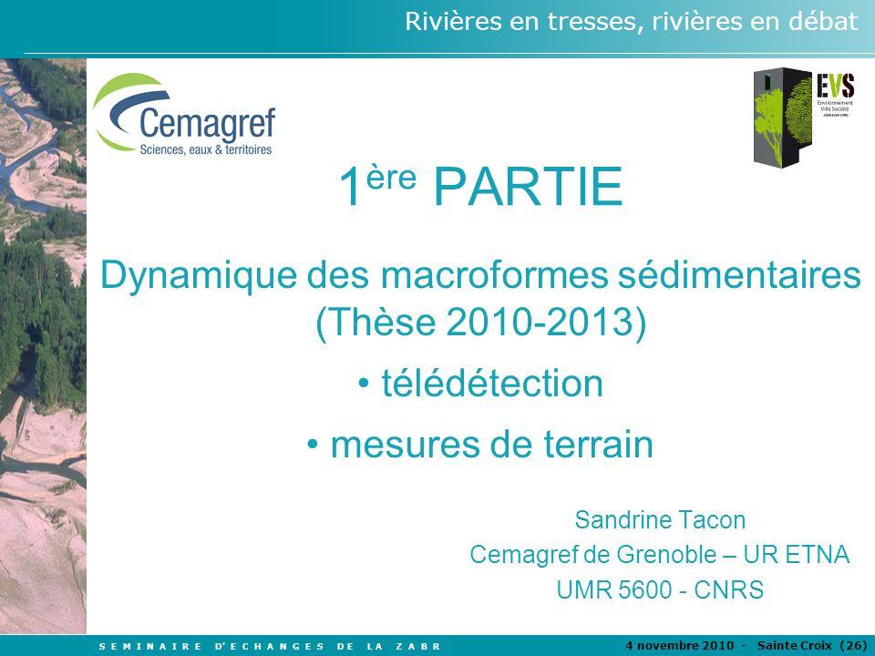 Sandrine Tacon Cemagref de Grenoble – UR ETNA UMR 5600 - CNRS