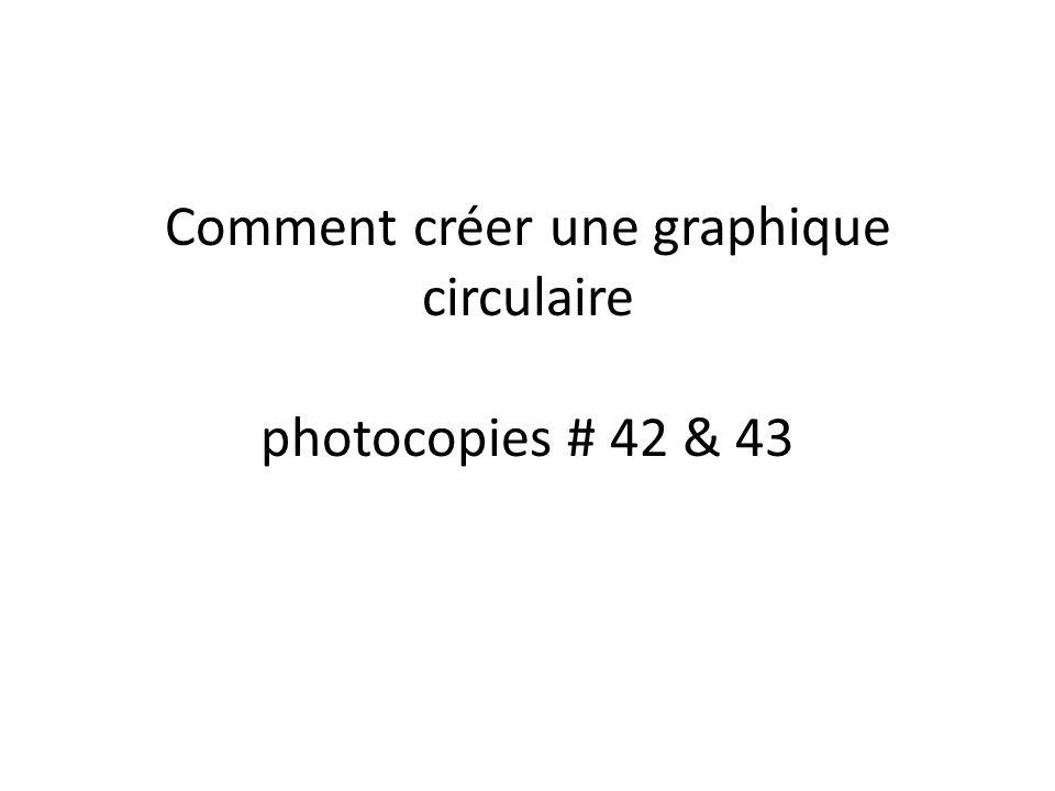 Comment créer une graphique circulaire photocopies # 42 & 43