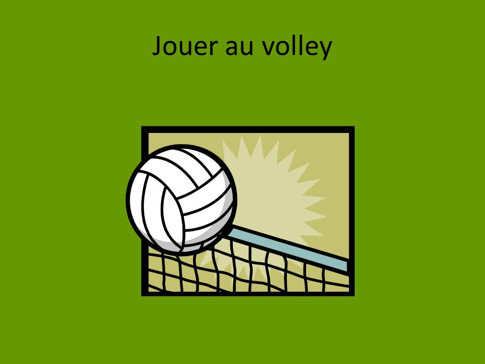 Jouer au volley