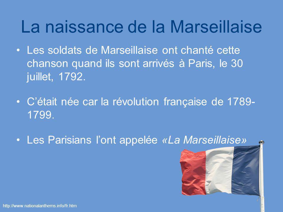 La naissance de la Marseillaise