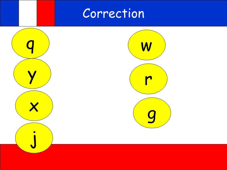 Correction q w y r x g j