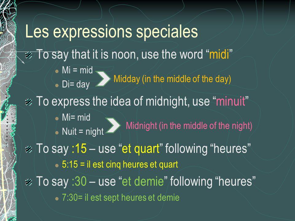 Les expressions speciales