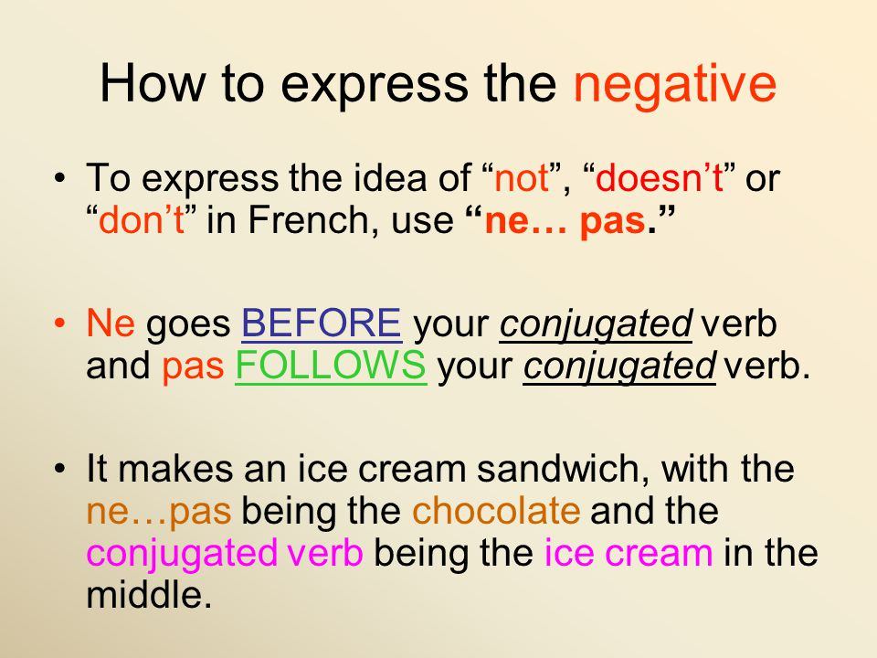 How to express the negative