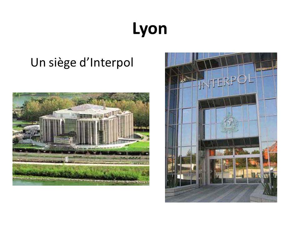 Lyon Un siège d'Interpol