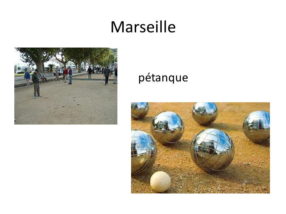 Marseille pétanque