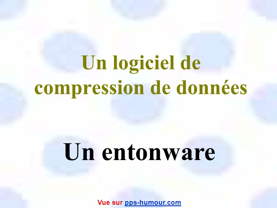 Un logiciel de compression de données