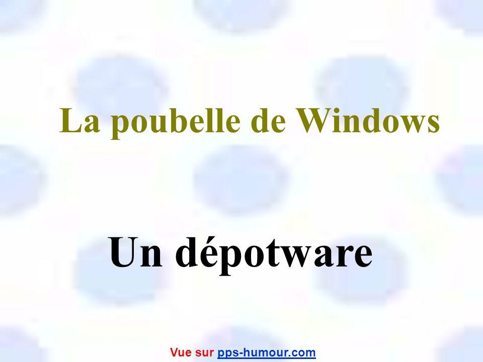 La poubelle de Windows Un dépotware Vue sur pps-humour.com