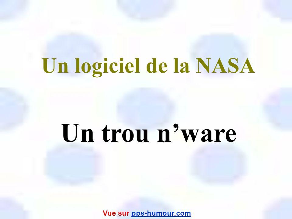 Un logiciel de la NASA Un trou n'ware Vue sur pps-humour.com