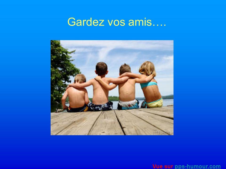 Gardez vos amis…. Vue sur pps-humour.com