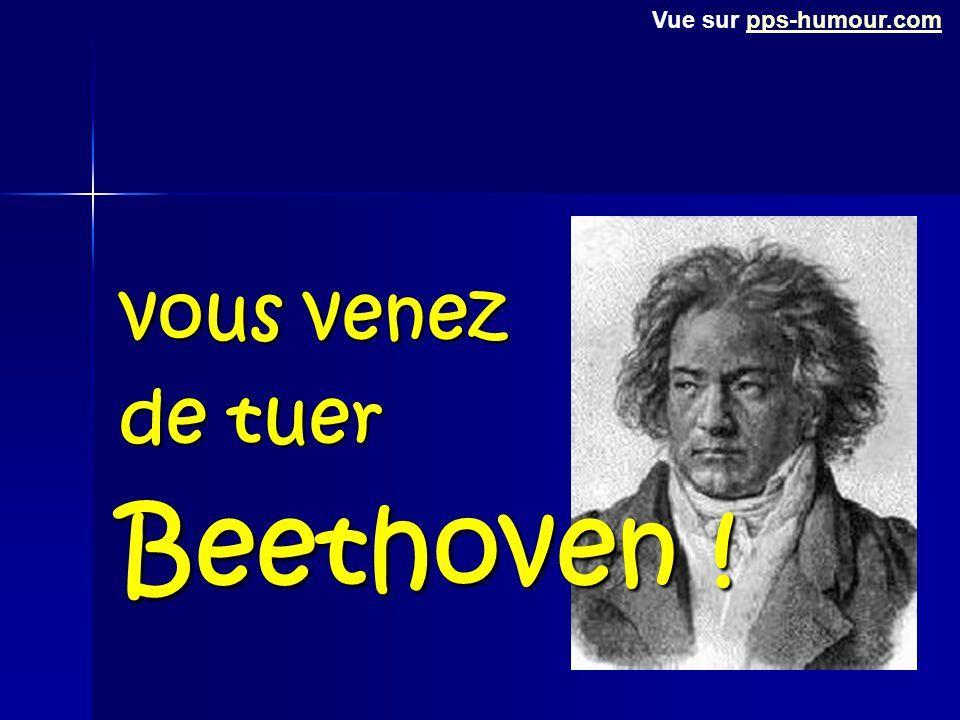 Vue sur pps-humour.com vous venez de tuer Beethoven !