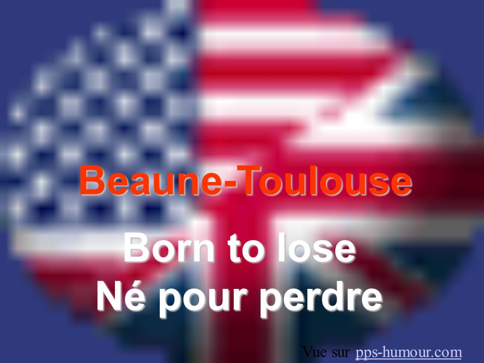 Born to lose Né pour perdre