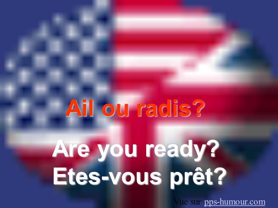 Ail ou radis Are you ready Etes-vous prêt Vue sur pps-humour.com