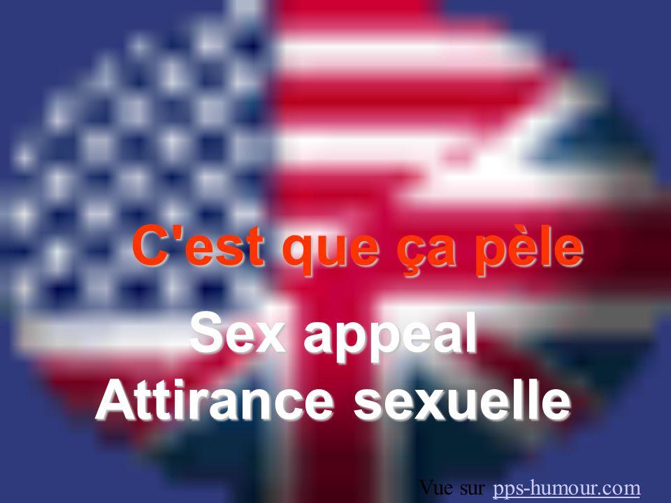 Sex appeal Attirance sexuelle
