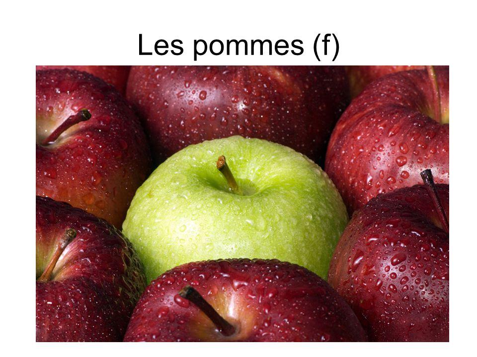 Les pommes (f)