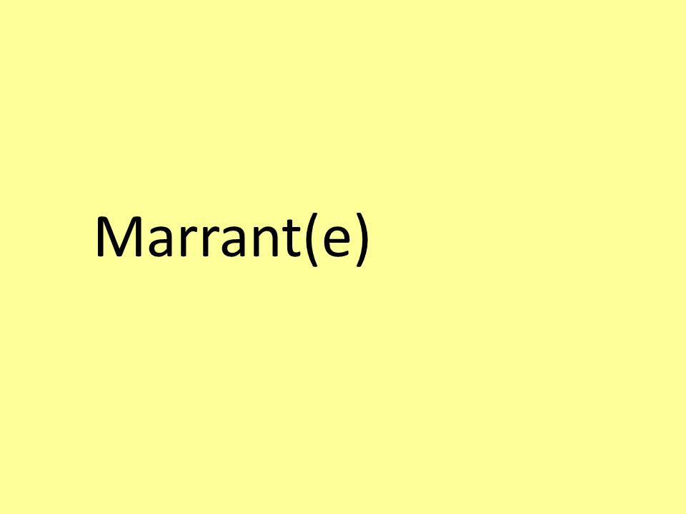 Marrant(e)