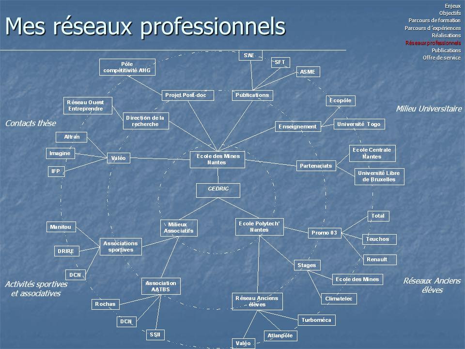 Mes réseaux professionnels