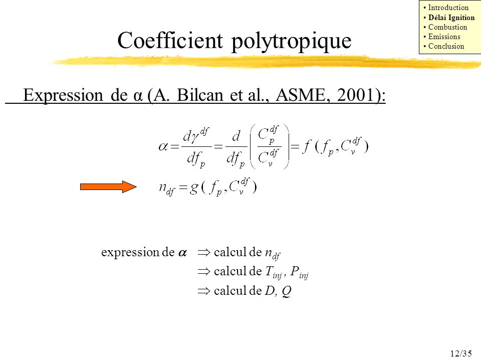 Coefficient polytropique