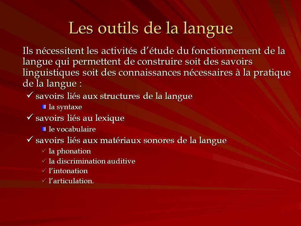 Les outils de la langue