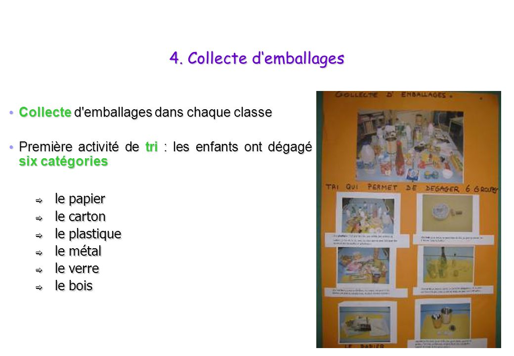 4. Collecte d'emballages