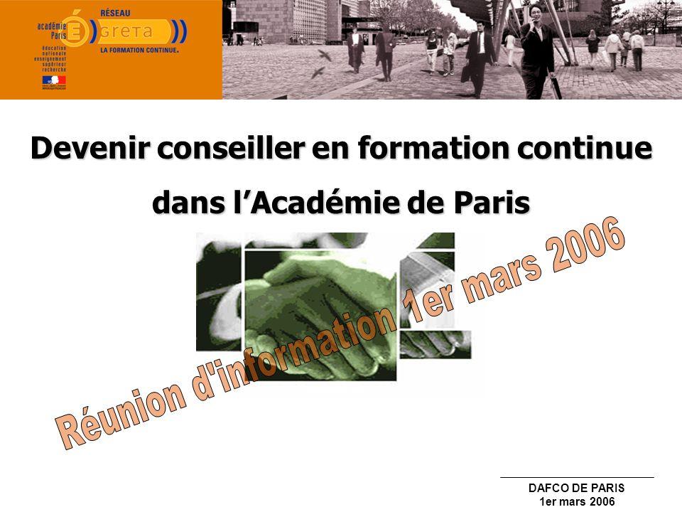 Devenir conseiller en formation continue dans l'Académie de Paris