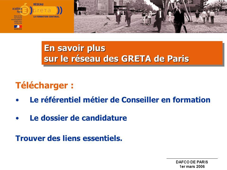 sur le réseau des GRETA de Paris