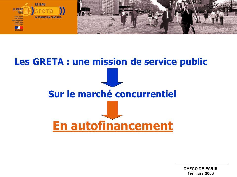 En autofinancement Les GRETA : une mission de service public