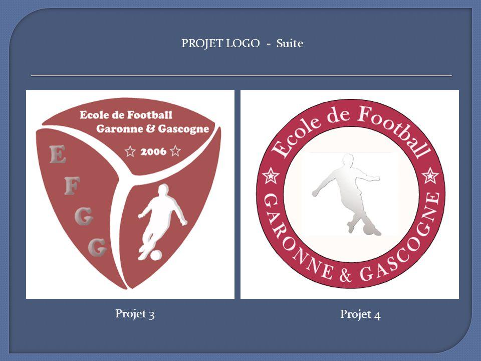 PROJET LOGO - Suite Projet 3 Projet 4