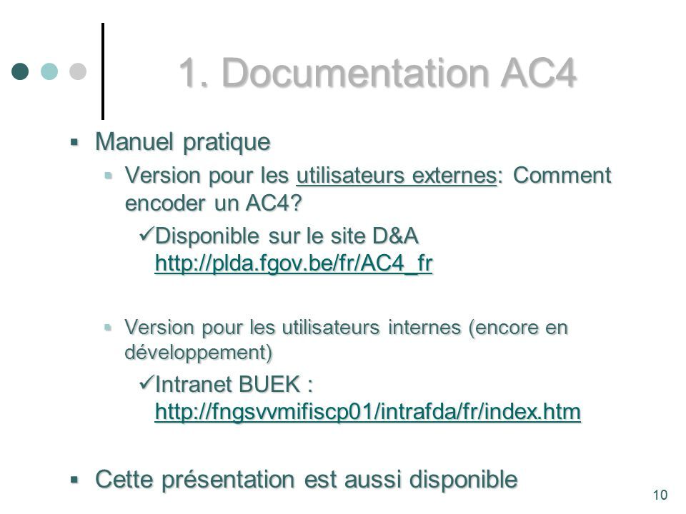 1. Documentation AC4 Manuel pratique