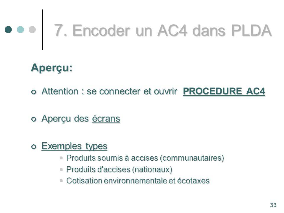 7. Encoder un AC4 dans PLDA Aperçu: