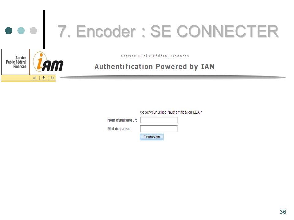 7. Encoder : SE CONNECTER 36
