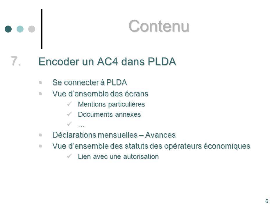 Contenu Encoder un AC4 dans PLDA Se connecter à PLDA