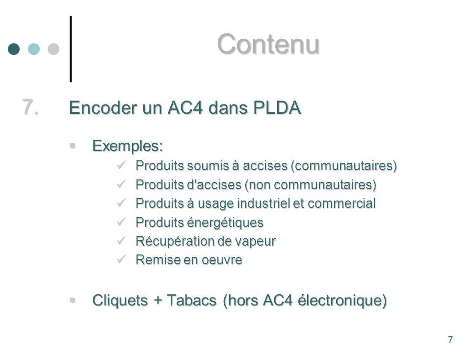 Contenu Encoder un AC4 dans PLDA Exemples: