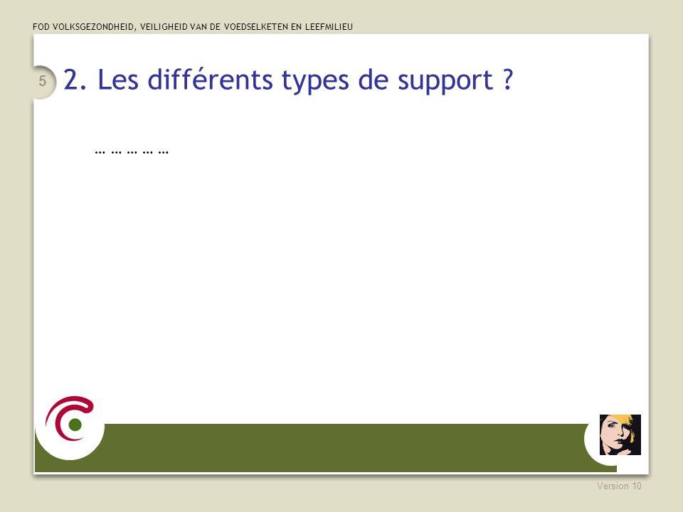 2. Les différents types de support