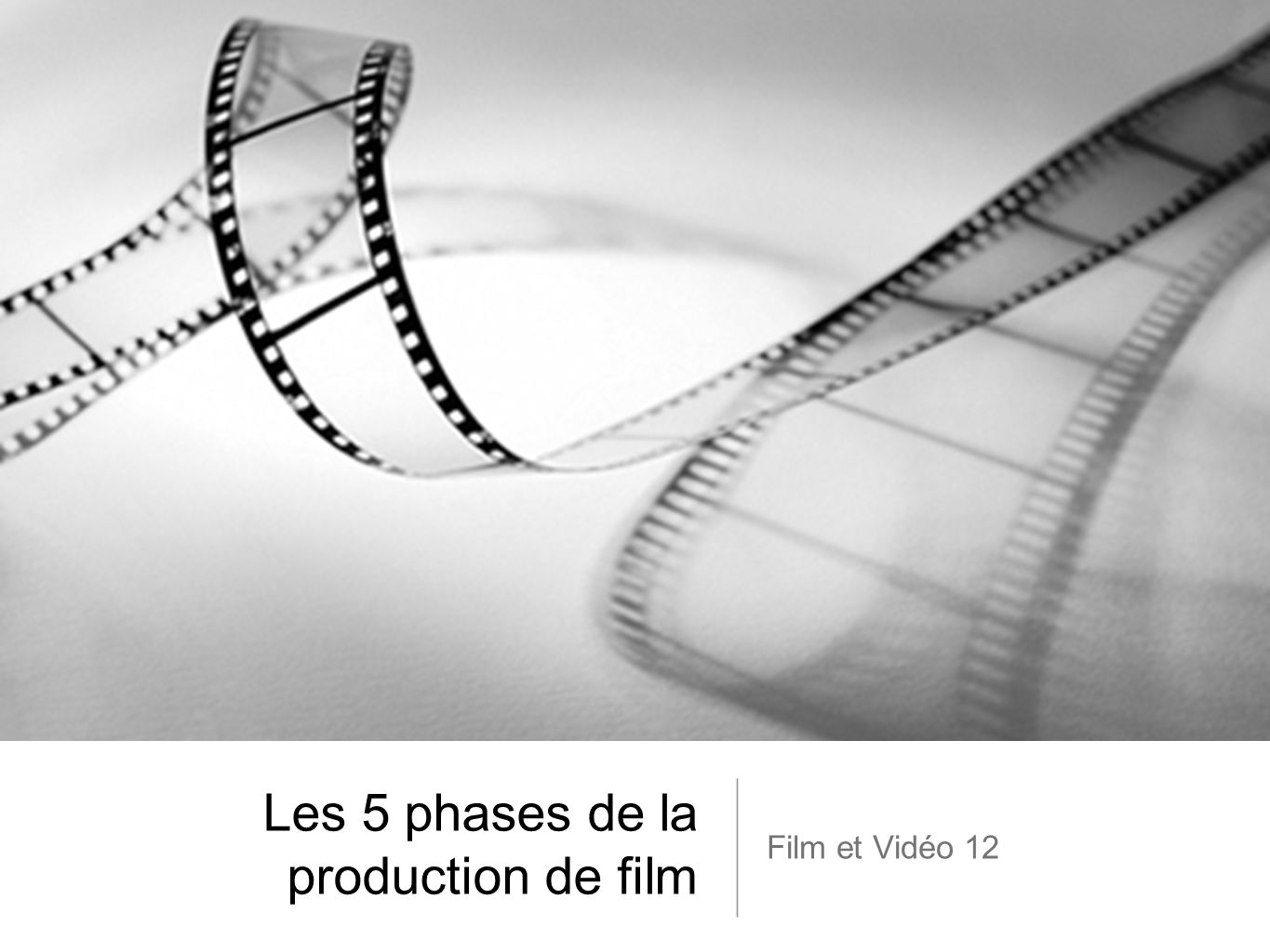 Les 5 phases de la production de film