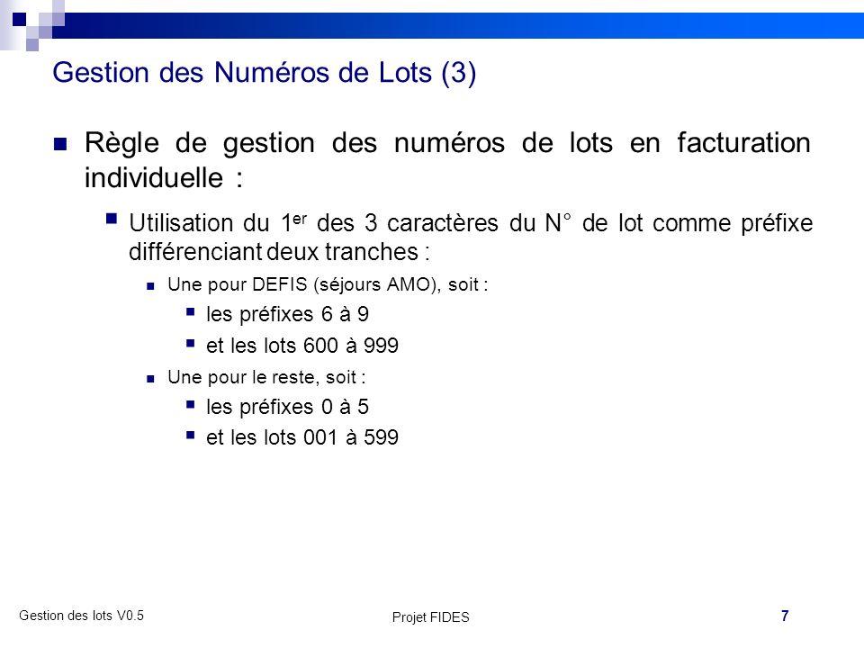 Gestion des Numéros de Lots (3)