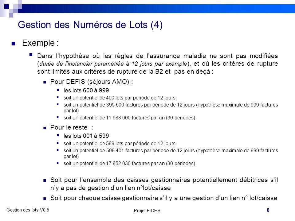 Gestion des Numéros de Lots (4)