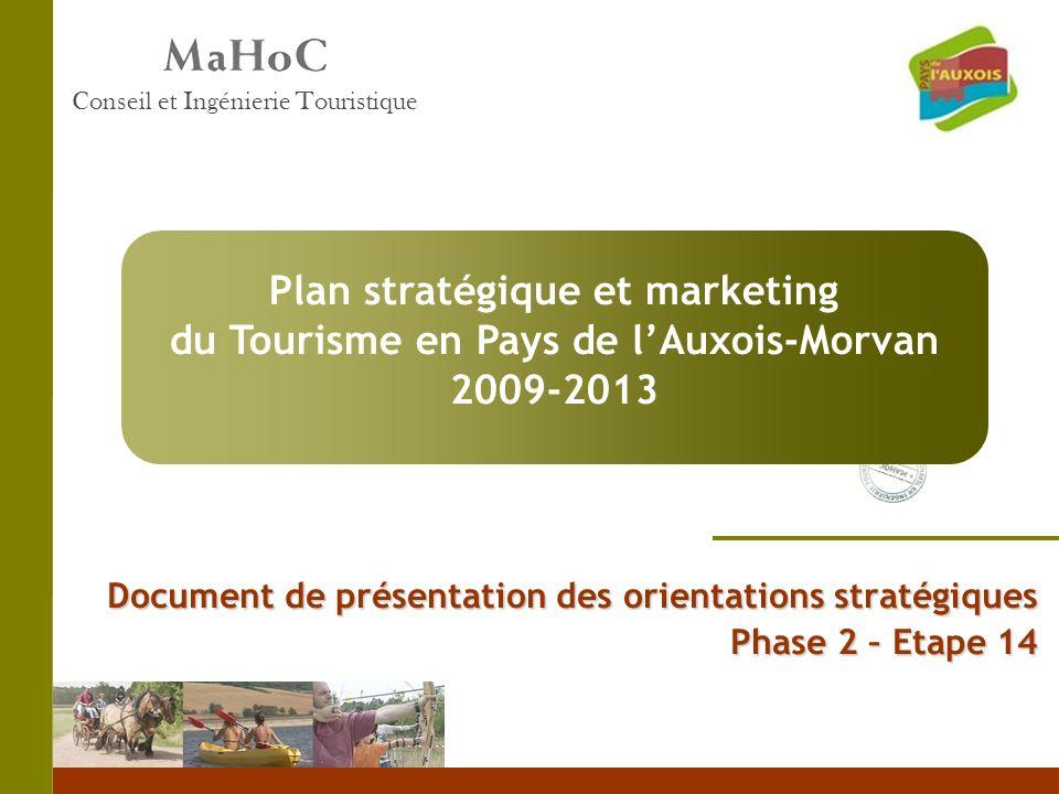 Plan stratégique et marketing du Tourisme en Pays de l'Auxois-Morvan