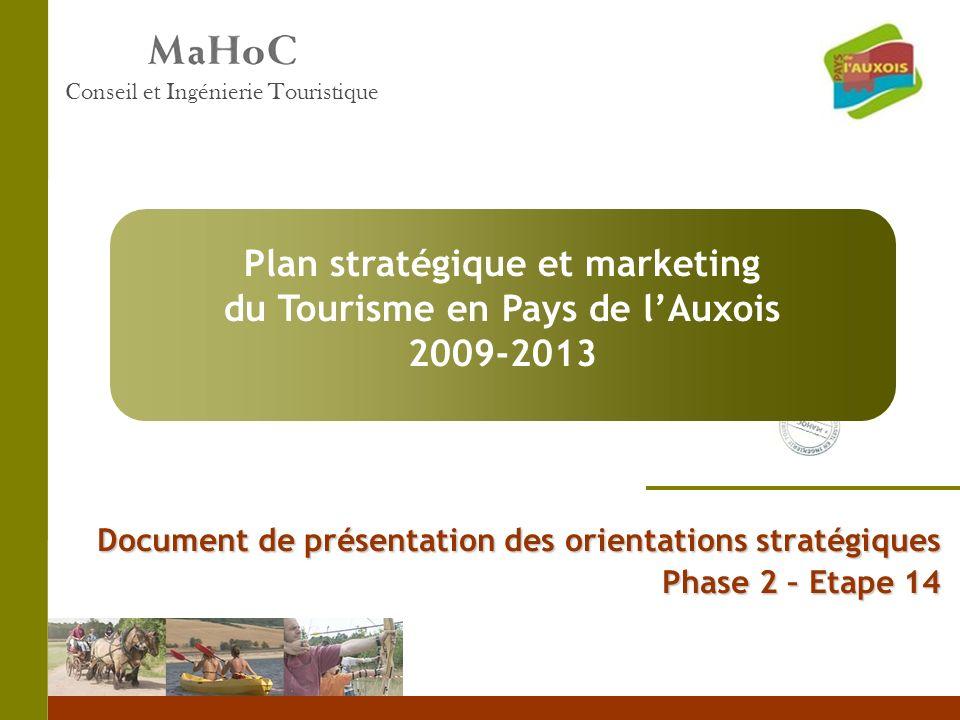 Plan stratégique et marketing du Tourisme en Pays de l'Auxois