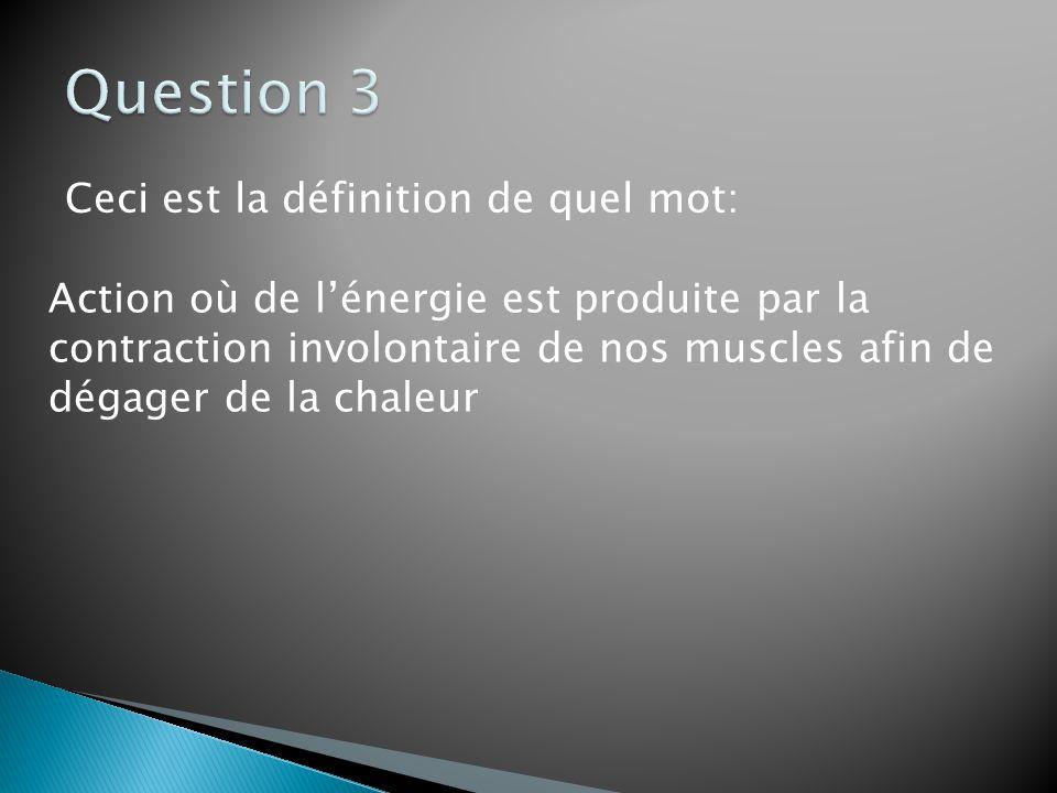 Question 3 Ceci est la définition de quel mot: